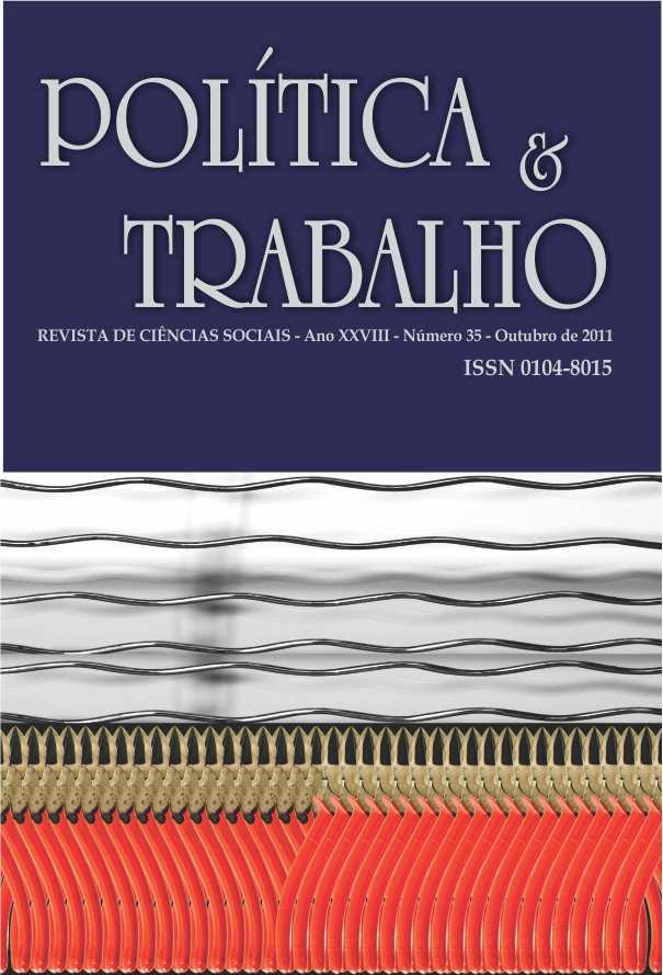Visualizar REVISTA POLÍTICA & TRABALHO - EDIÇÃO 35