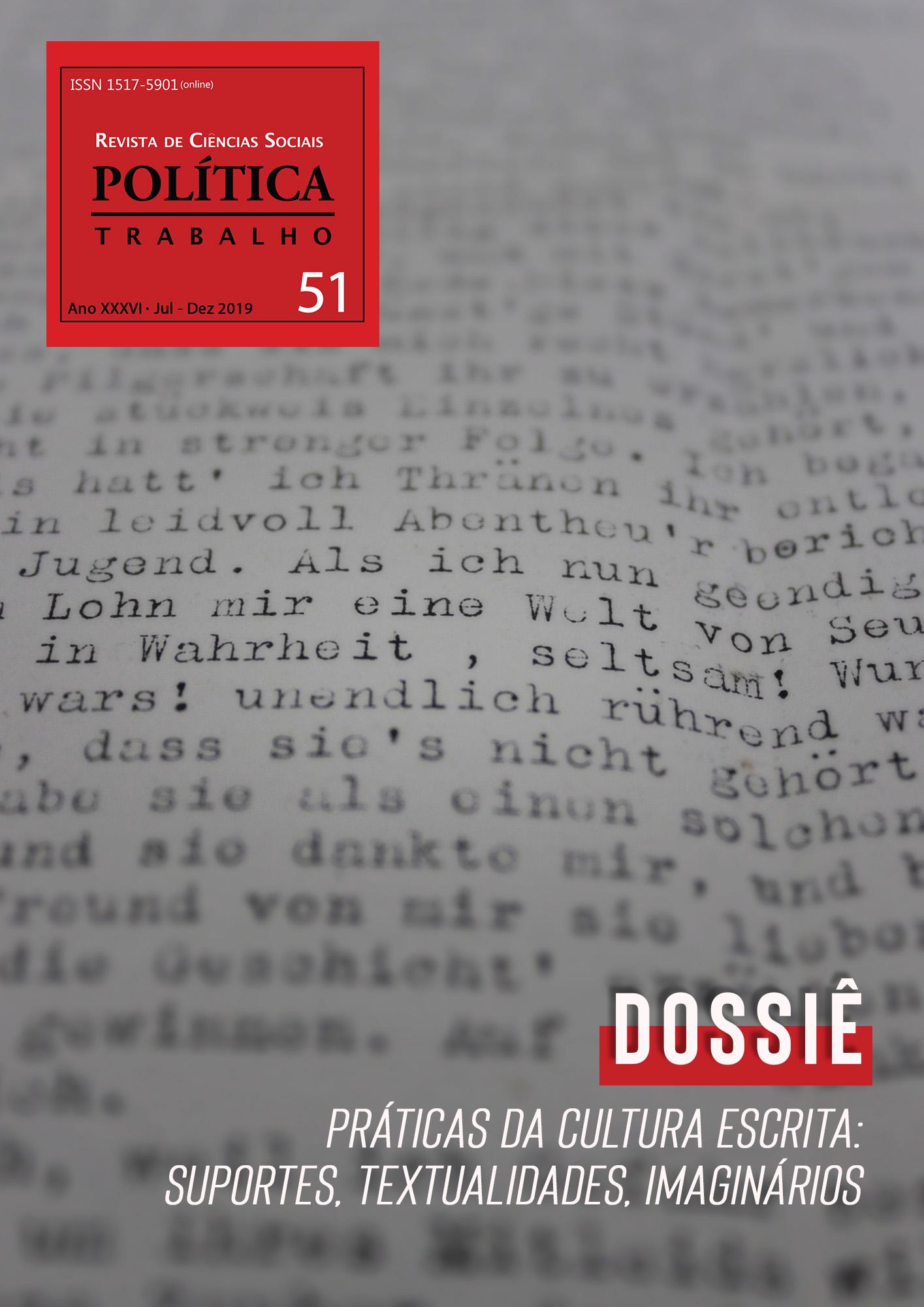 Visualizar N. 51 - Práticas da cultura escrita: suportes, textualidades, imaginários