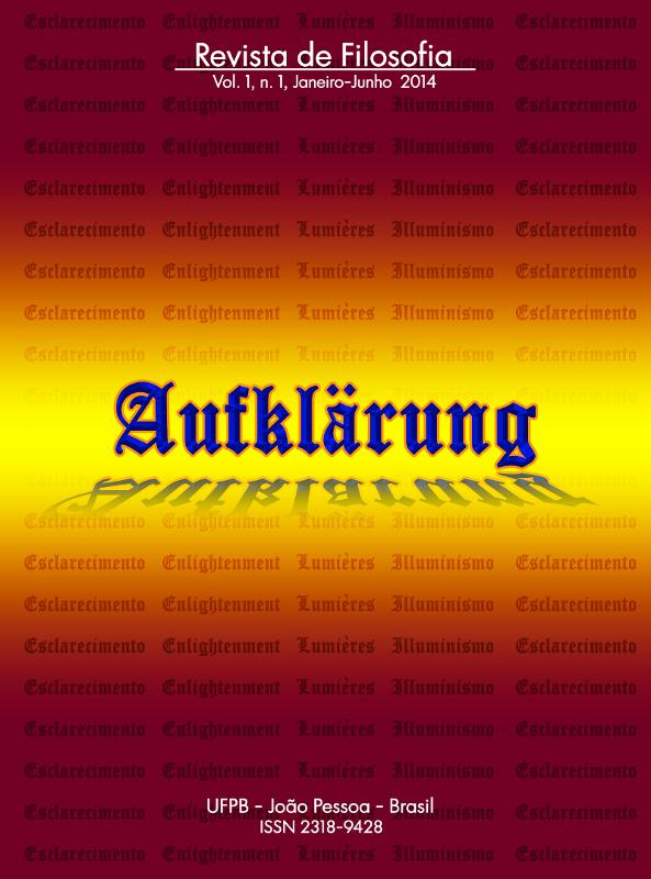 Revista Aufklärung. v. 1, n. 1 (2014), Janeiro-Junho