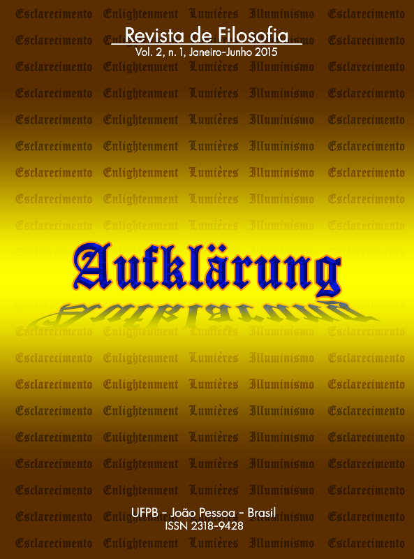 Revista Aufklärung. v. 2, n. 1 (2015), Janeiro-Junho