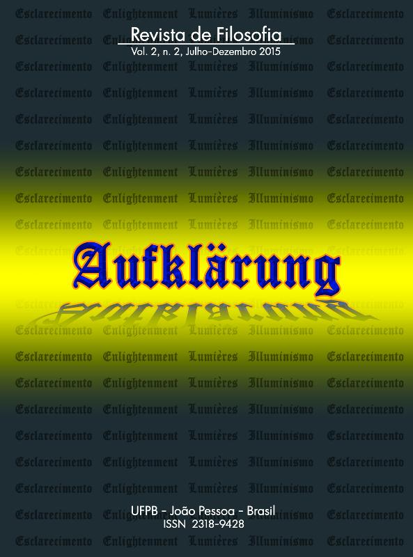 Revista Aufklärung. v. 2, n. 2 (2015), Julho-Dezembro