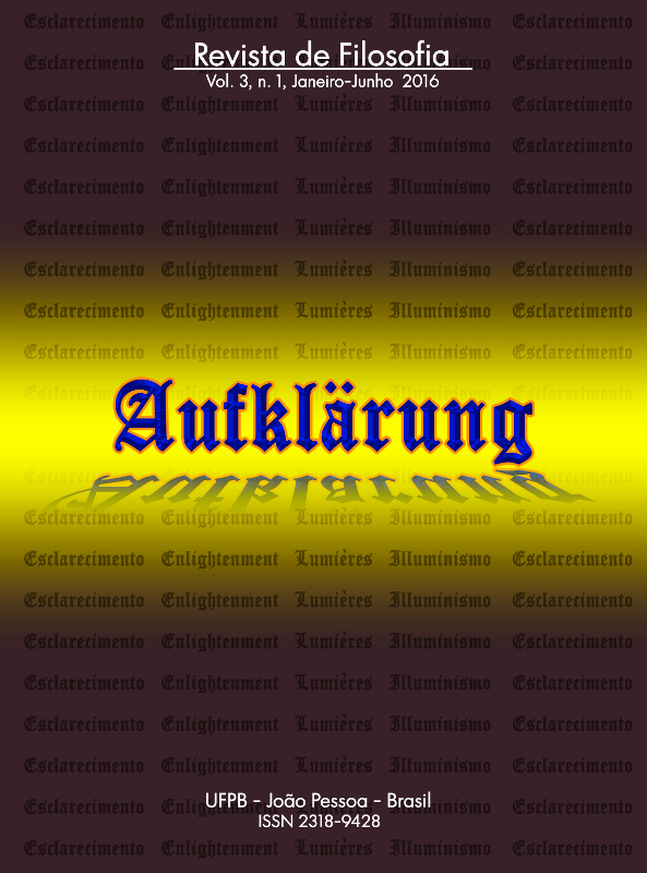 Revista Aufklärung. v. 3, n. 1 (2016), Janeiro-Junho