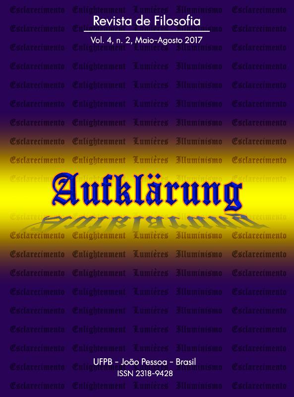 Revista Aufklärung. Edição de Agosto/2017