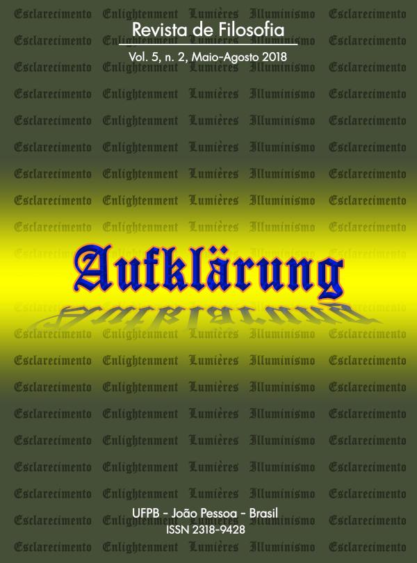 Revista Aufklärung. v.5, n. 2 (2019), Maio-Agosto
