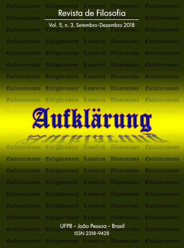 Revista Aufklärung. v.5, n. 3 (2019), Setembro-Dezembro