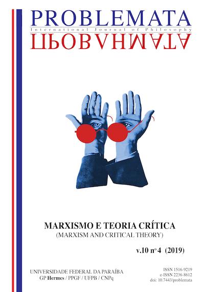 Visualizar v. 10 n. 4 (2019): MARXISMO E TEORIA CRÍTICA - Edição Especial