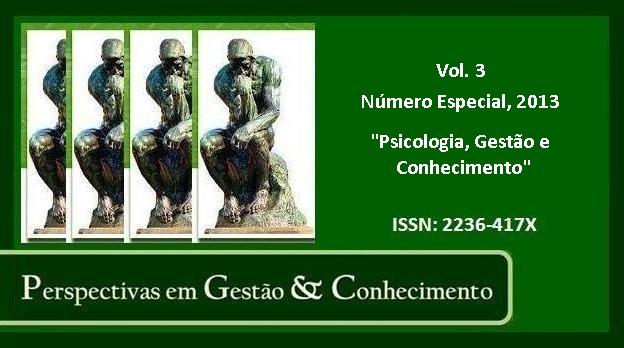 Visualizar Vol. 3, Número Especial (2013): Psicologia, Gestão e Conhecimento
