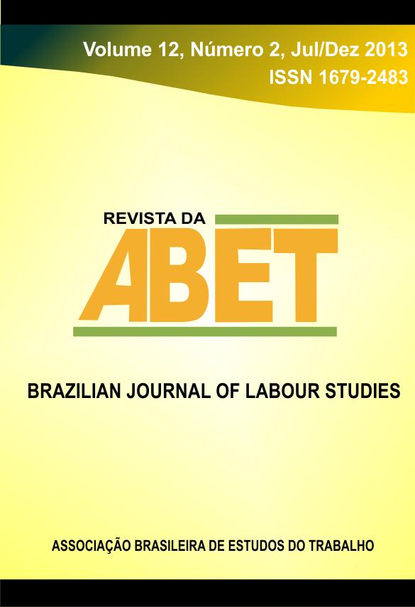 Visualizar Revista da ABET | Volume 12 — nº 2