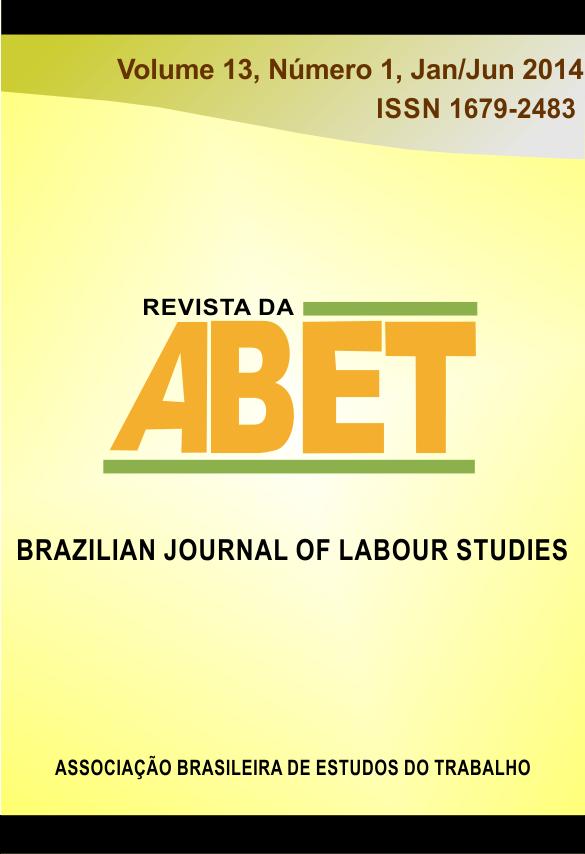 Visualizar Revista da ABET | Volume 13 — nº 1