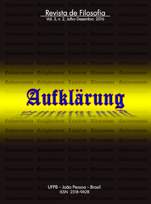 Revista Aufklärung. v. 3, n. 2 (2016), Julho-Dezembro