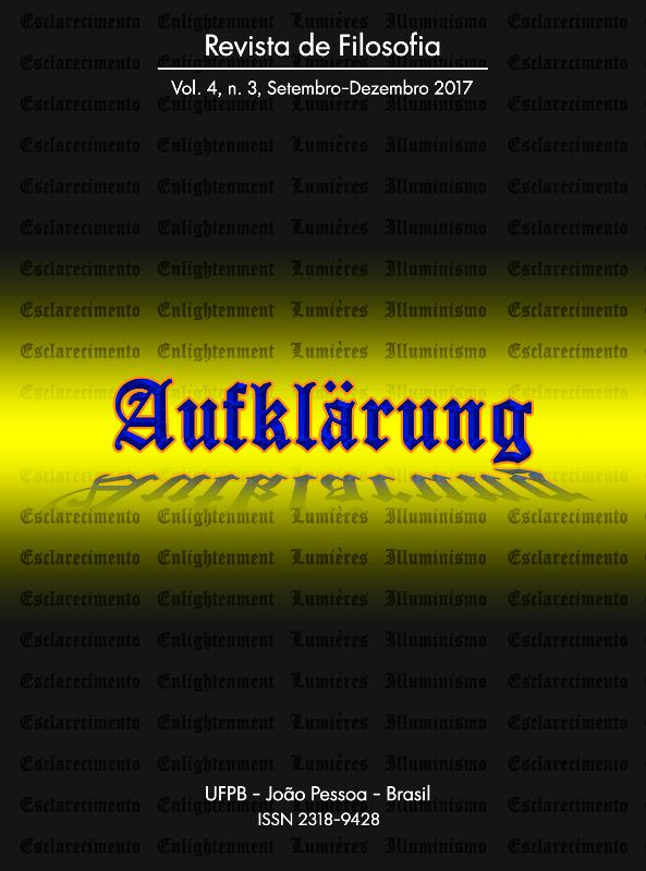 Revista Aufklärung. v. 4, n. 3 (2017), Setembro-Dezembro