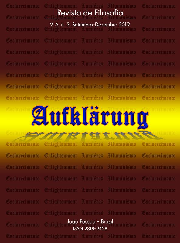 Revista Aufklärung. v. 6, n. 3 (2019), Setembro-Dezembro