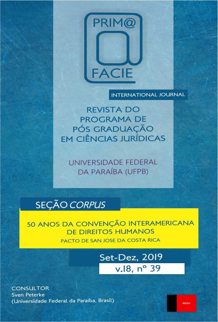 Visualizar v. 18 n. 39 (2019): 50 Anos da Convenção Interamericana de Direitos Humanos - Pacto de San Jose, Costa Rica
