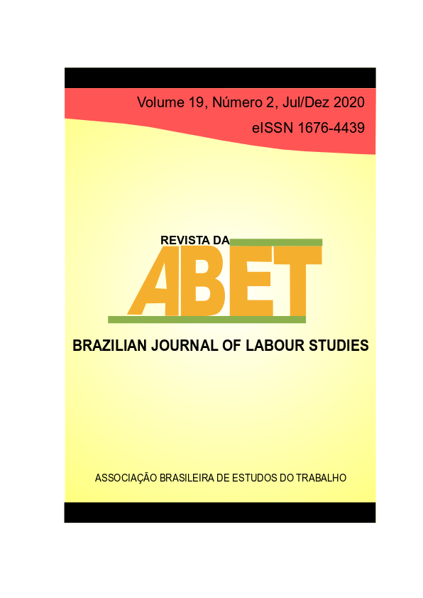 Visualizar Revista da ABET | Volume 19 — nº 2