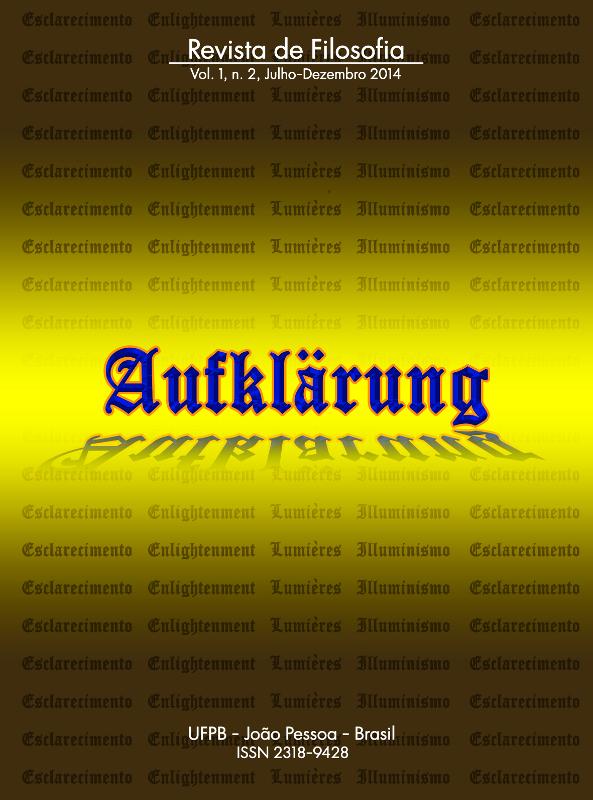 Revista Aufklärung. v. 1, n. 2 (2014), Julho-Dezembro
