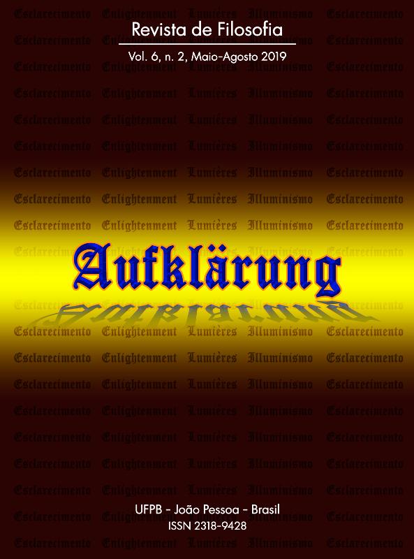 Revista Aufklärung. v. 6, n. 2 (2019), Maio-Agosto