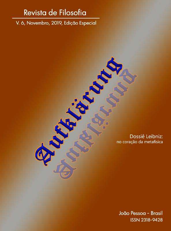 Revista Aufklärung. Leibniz: no coração da metafísica. v. 4, n. esp. (2019), Novembro